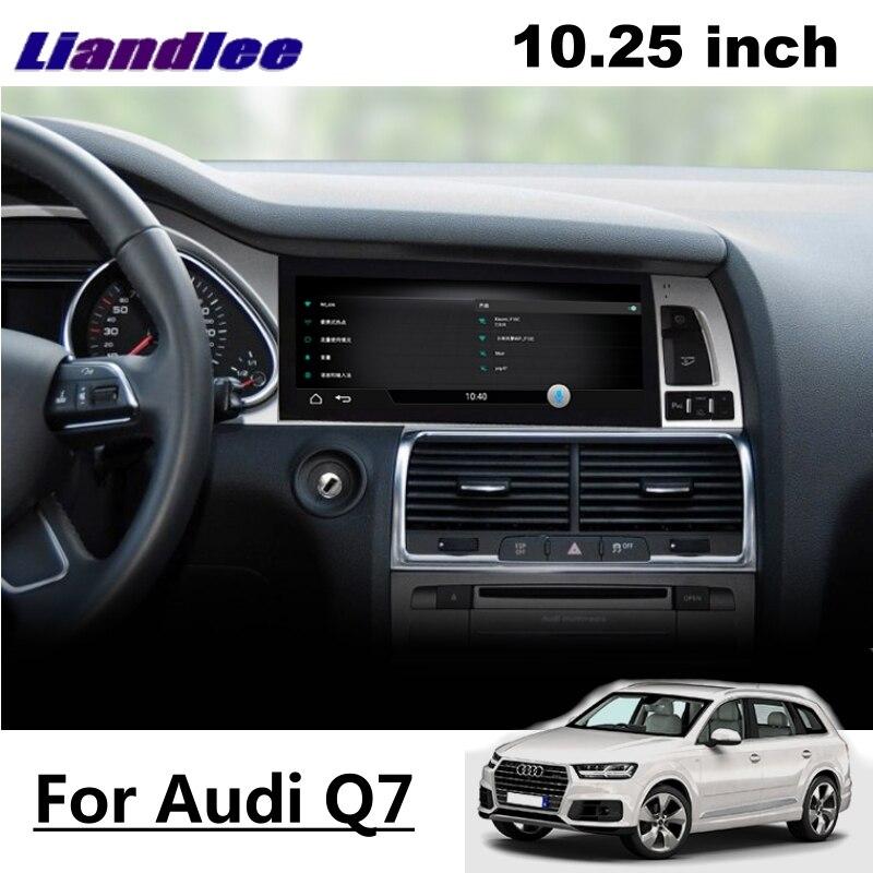 Liandlee Car Multimedia Player NAVI For Audi Q7 4L V12 2005~2015 Car System Radio Stereo CarPlay Adapter GPS Screen Navigation 10