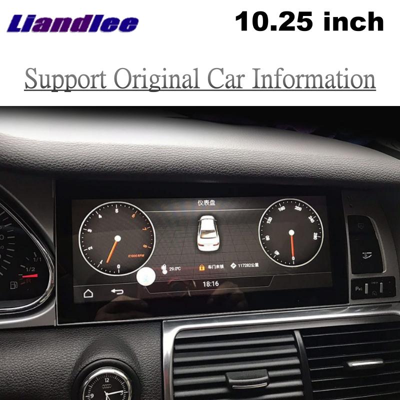 Liandlee Car Multimedia Player NAVI For Audi Q7 4L V12 2005~2015 Car System Radio Stereo CarPlay Adapter GPS Screen Navigation 2