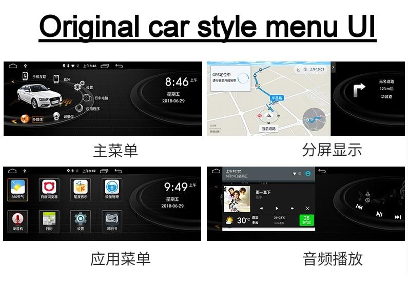For Audi Q7 4L V12 TDI 2005~2015 Liandlee Car Multimedia Player NAVI Original Car System inch Radio Stereo GPS Screen Navigation 6