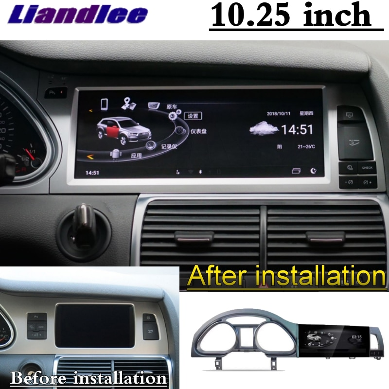 For Audi Q7 4L V12 TDI 2005~2015 Liandlee Car Multimedia Player NAVI Original Car System inch Radio Stereo GPS Screen Navigation 2